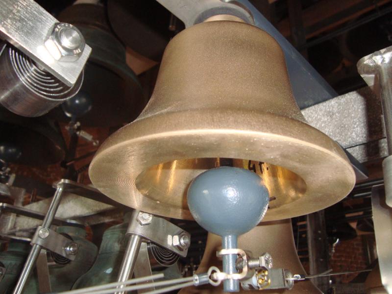 Kleinste klokje in het carillon van Hasselt