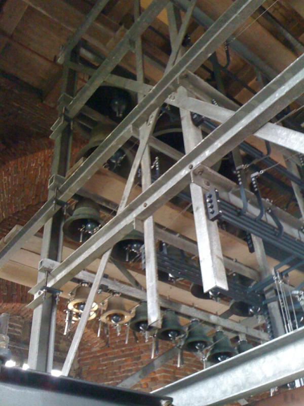 Nieuwe klokjes in het carillon van Hasselt